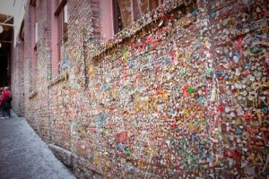 The Gum Wall in Seattle